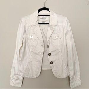 Live a Little White Jacket Size: Medium